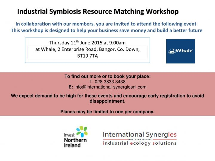 Industrial Symbiosis Resource Matching Workshops