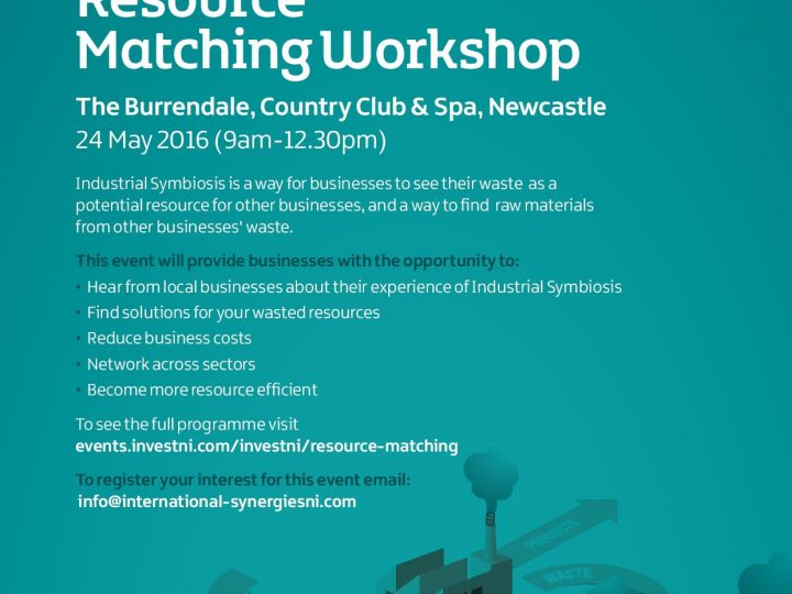 Resource Matching Workshop: 24th May 2016 – Newcastle